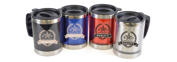 Flagstaff printed travel mugs