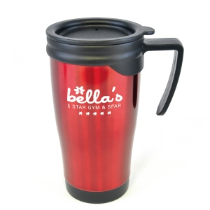 Sedona coloured stainless steel travel mug