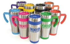 Metal travel mugs